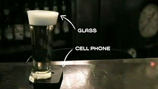 Beer glass keeps bar patrons from looking at phones