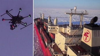 Company becomes first to employ drones to help vessels navigate frozen water