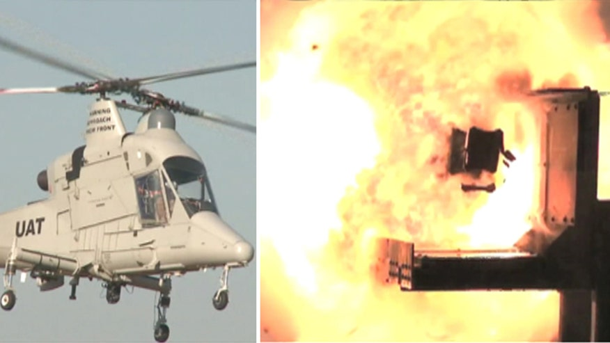 Jennifer Griffin reports on successful tests of unmanned helicopter, electromagnetic rail gun