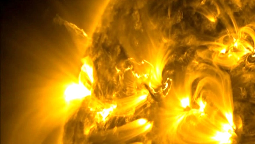 Raw video: NASA releases incredible video of solar flare