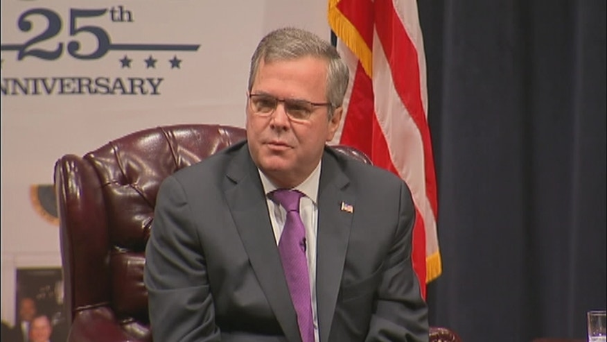 The former Republican governor of Florida Jeb Bush talks about immigration.