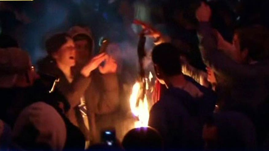 UConn students rioted after NCAA title win