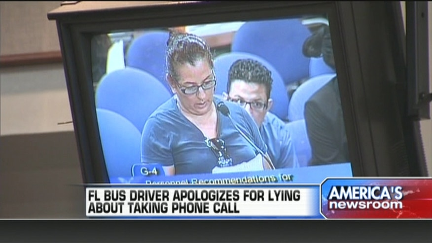 Broward Count School bus driver, Rossana Lucas, was caught answering a phone call while on the job.