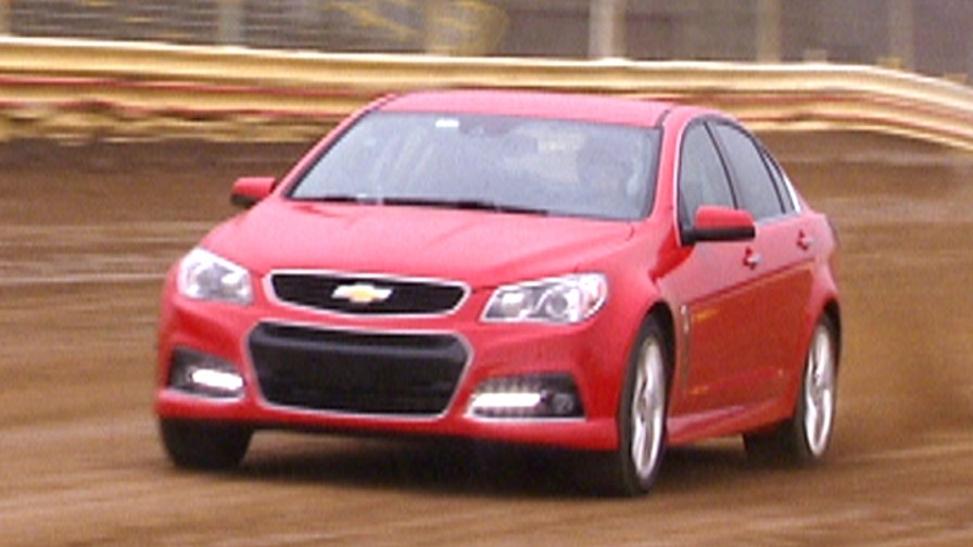Fox Car Report's Gary Gastelu tests the 2014 Chevrolet SS on the dirt track at New Egypt Speedway.