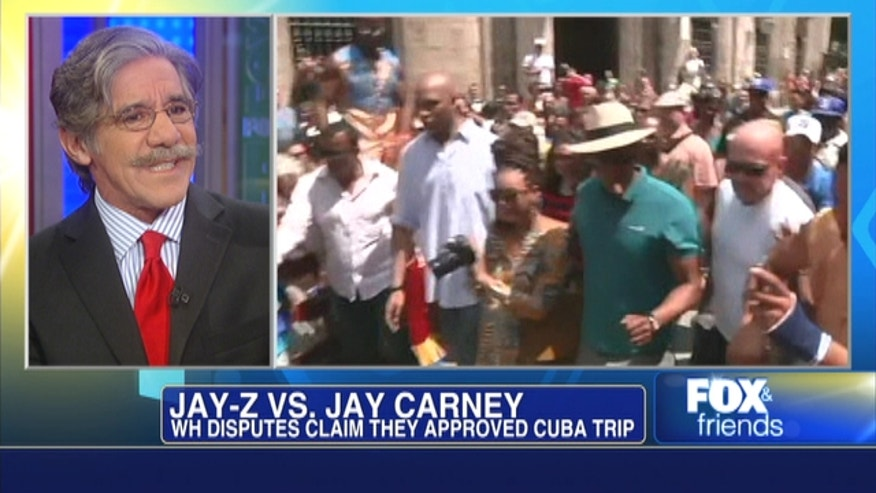 Fox News' Geraldo Rivera on Beyoncé and Jay-Z's trip to Cuba.