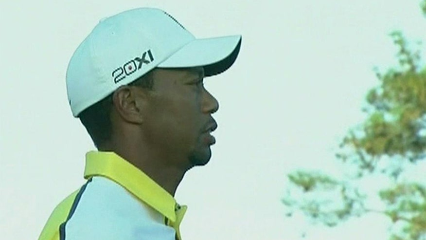 Woods penalized two strokes after yesterday's Masters round