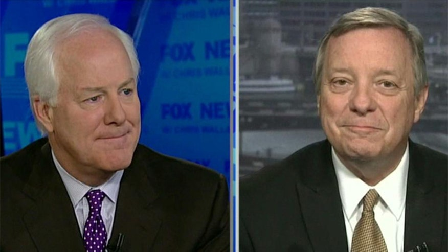 Sens. Durbin, Cornyn talk immigration, guns, budget