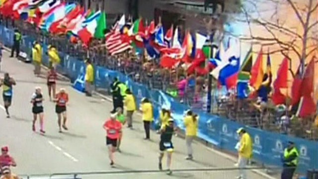 Video captures explosions near Boston Marathon finish line