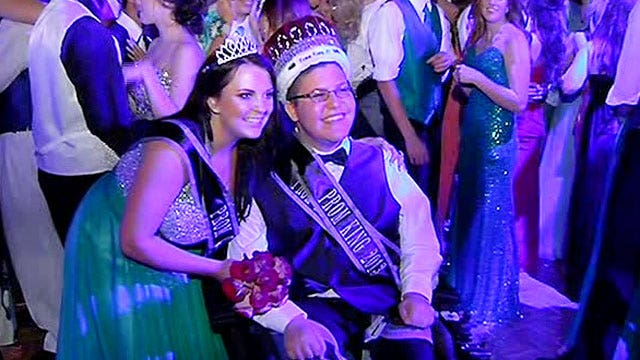 Disabled teen picked as prom king