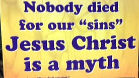 Atheist group counters Easter display with one their own that claims, 'Jesus Christ is a myth.'