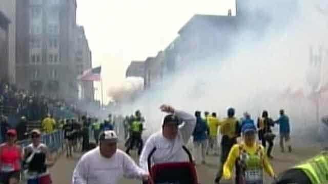 What type of bomb caused marathon blasts?