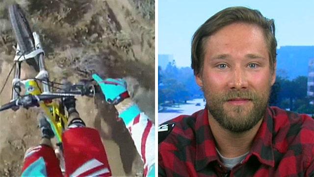 Mountain biker's death-defying descent goes viral