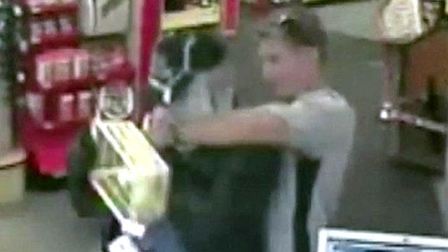 Hero customer takes down armed robber
