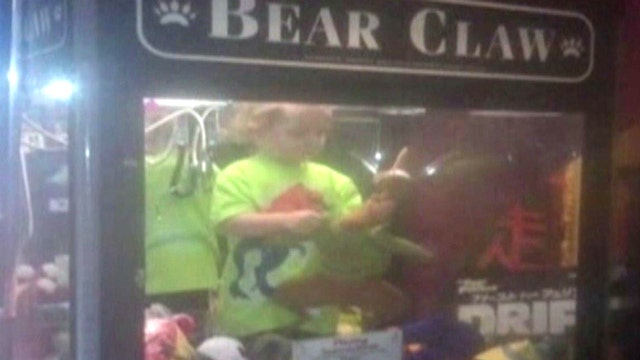 3-year-old found in claw machine after wandering from home