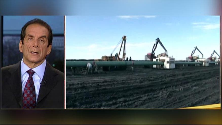 Syndicated columnist Charles Krauthammer:  the Keystone XL pipeline delay is about ideology
