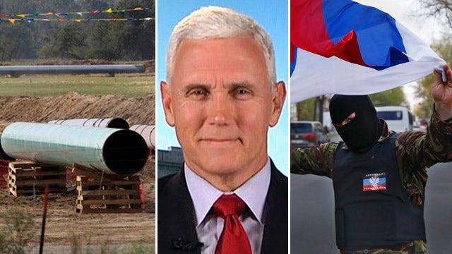 Gov. Pence talks Keystone Pipeline, Ukraine, Common Core