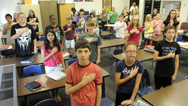 Humanist group sues NJ school over Pledge of Allegiance