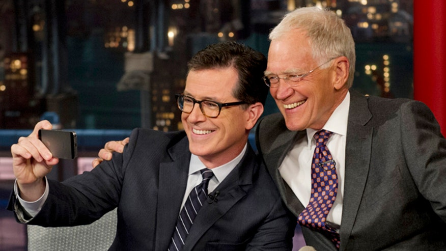 Colbert visited Letterman on the 'Late Show'
