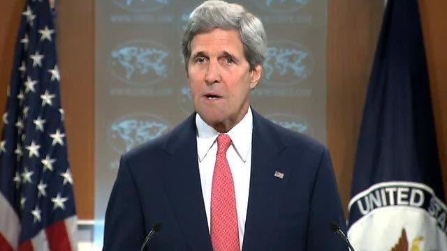 John Kerry makes a statement on Ukraine