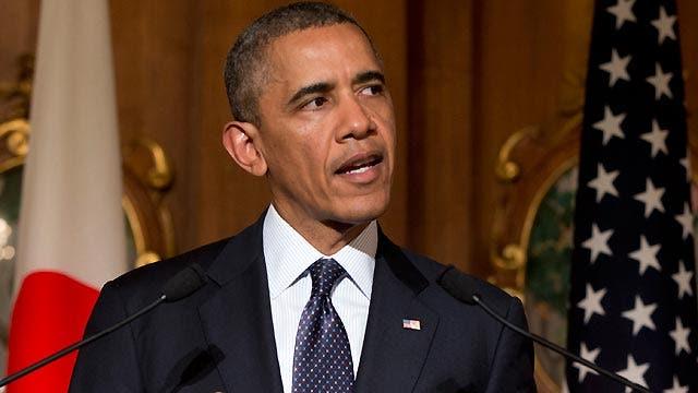Obama on the defense in Asia amid Ukraine crisis