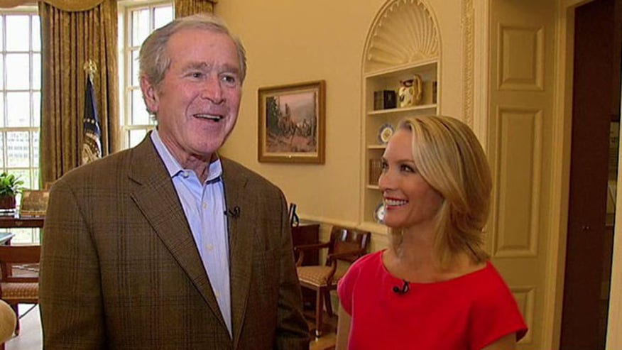 Former president on leadership, values and presidential center's Oval Office recreation