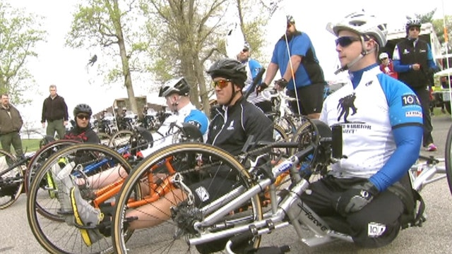 Wounded veterans cycle for recovery, camaraderie