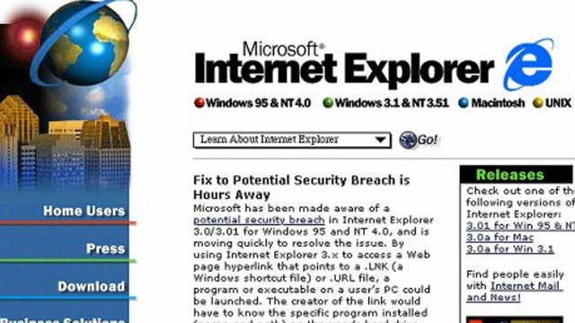 Bank on This: Bug found in Internet Explorer