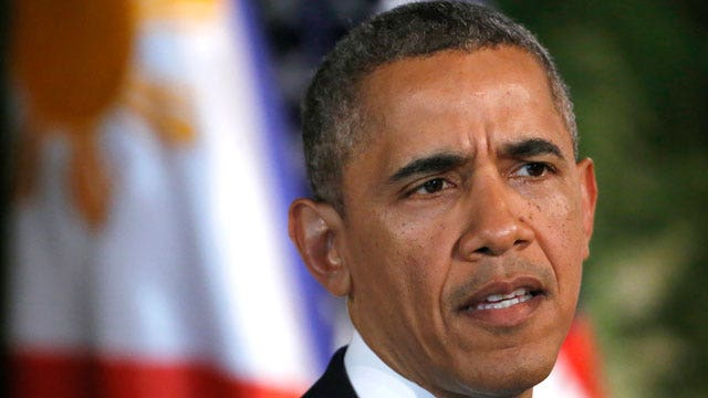 President appears irked when asked about 'Obama doctrine'