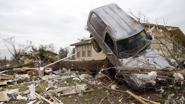 Tornadoes cut deadly path through Arkansas, Oklahoma