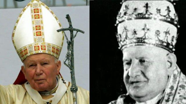 Historic celebration marks two popes rising to sainthood