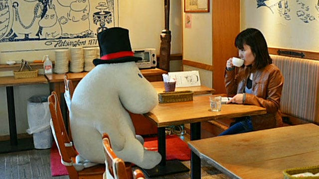 Tokyo eatery seats solo diners with large stuffed animals