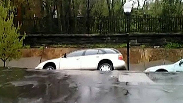 Massive sinkhole opens up in Baltimore