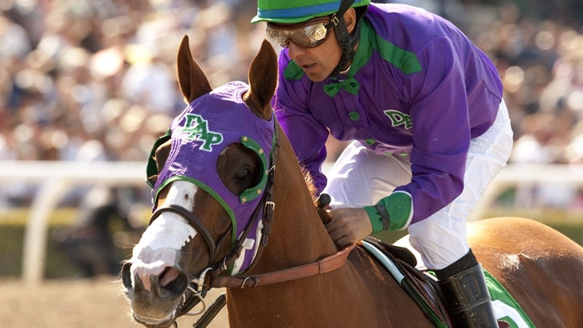 Derby favorite runs away from field in Santa Anita Derby