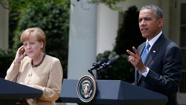 Obama: Germany, US stand 'united' on Ukraine issue