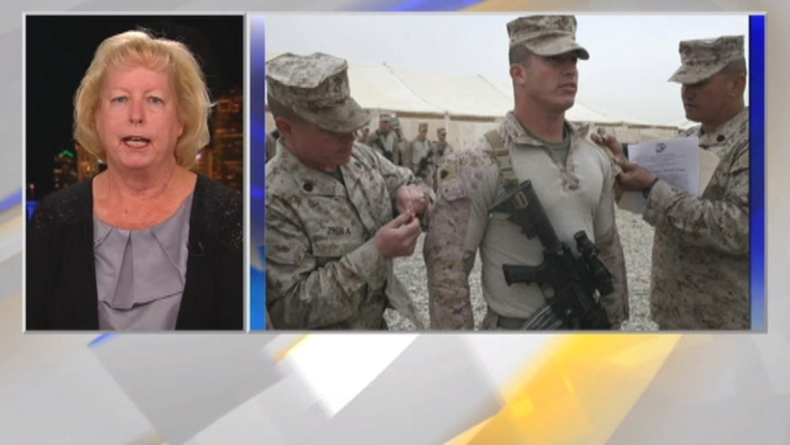 Jill Tahmooressi says her son, Andrew, is being held in a Mexican prison on trumpted up gun charges.