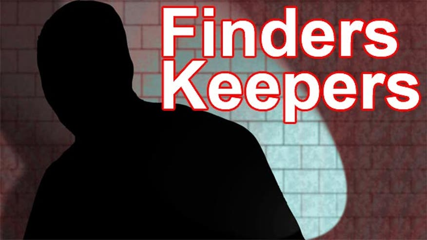 Man takes items from store called 'Finders Keepers'