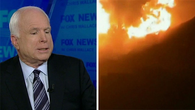 Sen. McCain: Obama shouldn't have drawn 'red line' in Syria