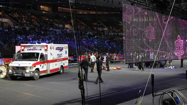 Nine circus performers recovering after nearly 40 foot fall