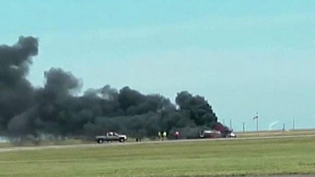 Stunt flier crashes at air show