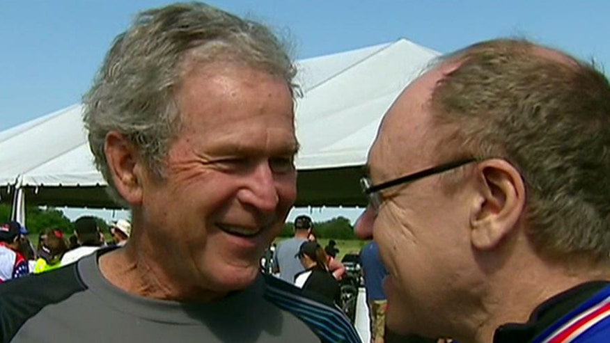 George W. Bush discusses his commitment to veterans