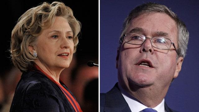 2016 polls: Jeb Bush ticks up, Hillary Clinton down