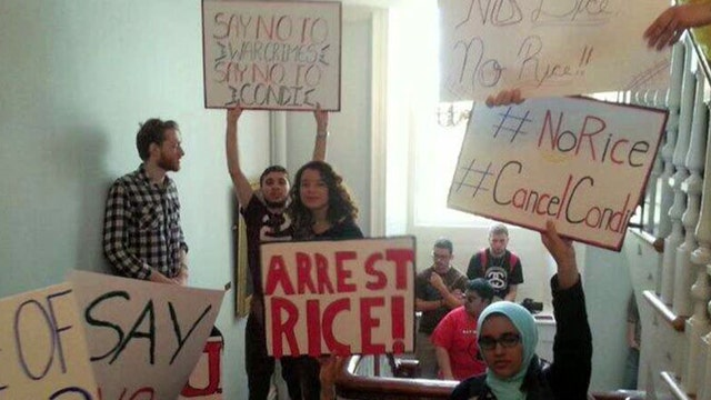Rutgers students debate commencement mess