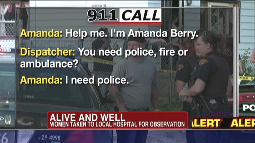 "The voice of the long-missing woman was frantic and breathless, choking back tears. ""Help me. I'm Amanda Berry,"" she told a 911 dispatcher. ""I've been kidnapped and I've been missing for 10 years and I'm, I'm here, I'm free now."""