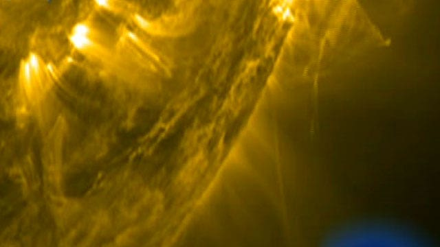 Out of this world explosions recorded on the sun