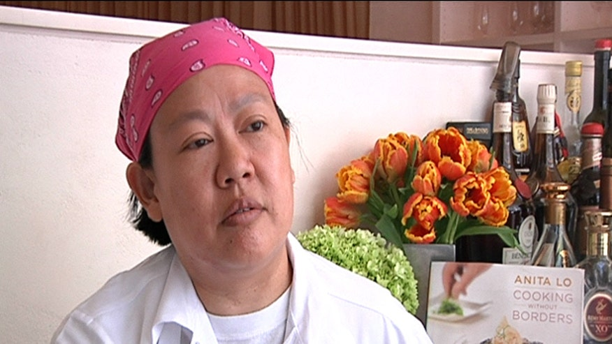 "Annisa's chef Anita Lo talks about ""Iron Chef"" and how she slices up Black Sea Bass Sashimi."
