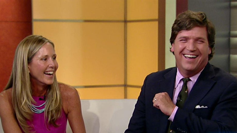 Tucker Carlson with his wife Susan Andrew during Women's Day