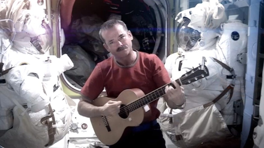 Astronaut living in International Space Station sings Bowie's 'Space Oddity'