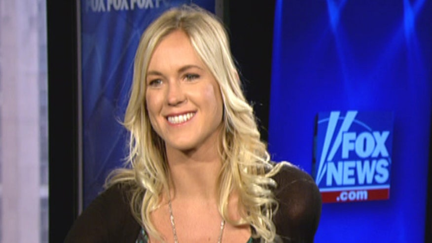 Surfer Bethany Hamilton speaks about faith, encourages girl to respect their bodies