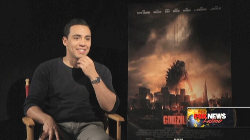 Actor Victor Rusuk talks about starring in the new film 'Godzilla.""