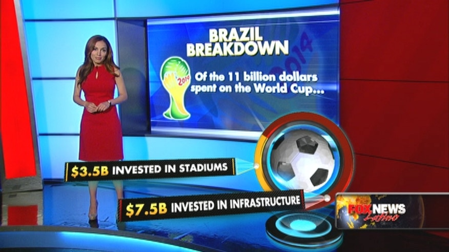 The Brazilian government estimates they will have spent at least $11 billion dollars to host 64 games for 32 of the best teams in the world from June 12th to July 13th.